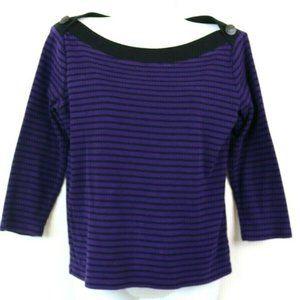 Lauren Ralph Lauren Womens Sweater 3/4 Sleeve Purp